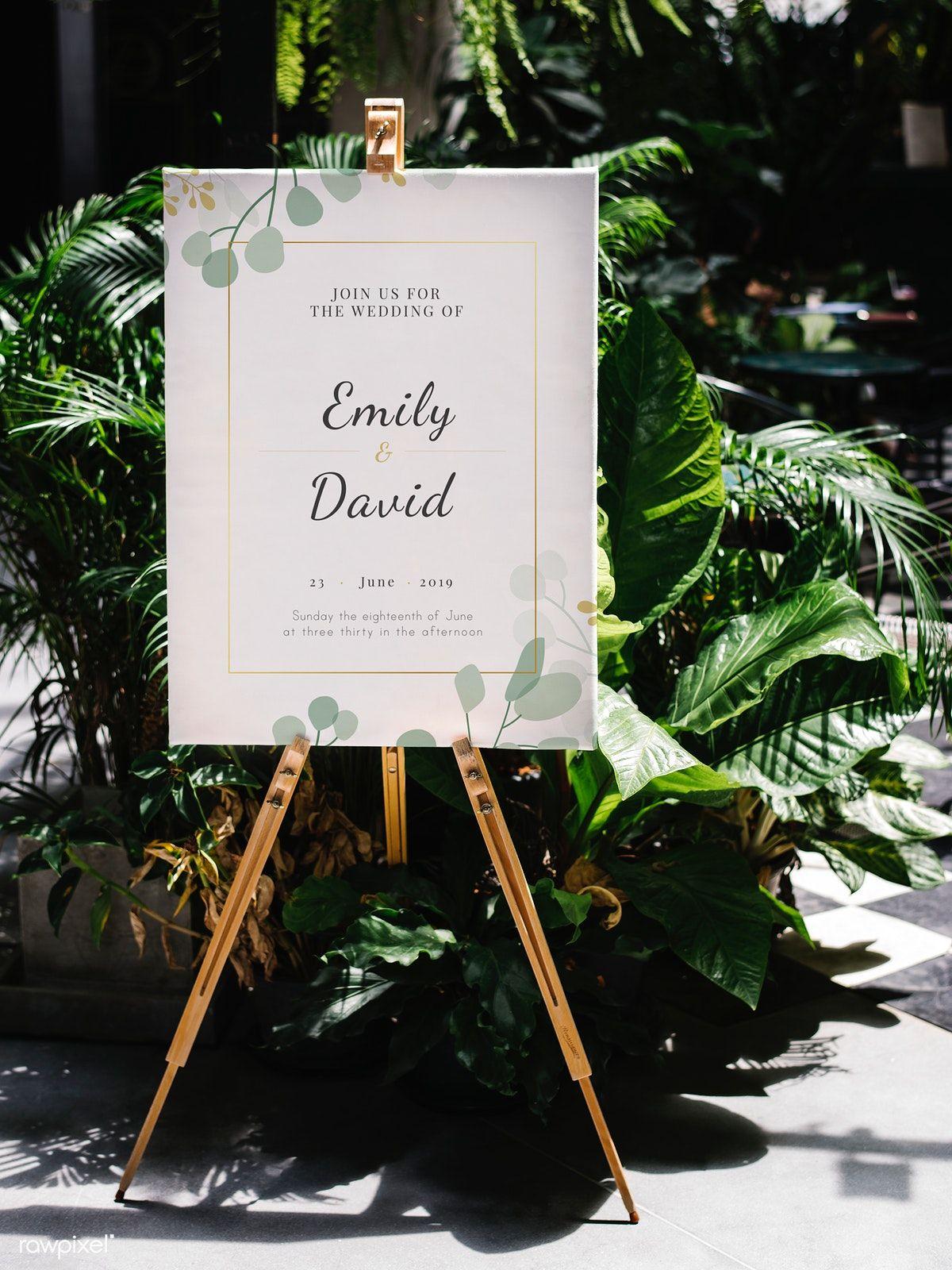 Download premium image of Summer wedding announcement
