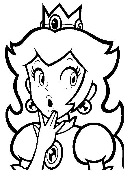 Colorear princesa de supermario dibujos pinterest - Dibujos de super mario bros ...