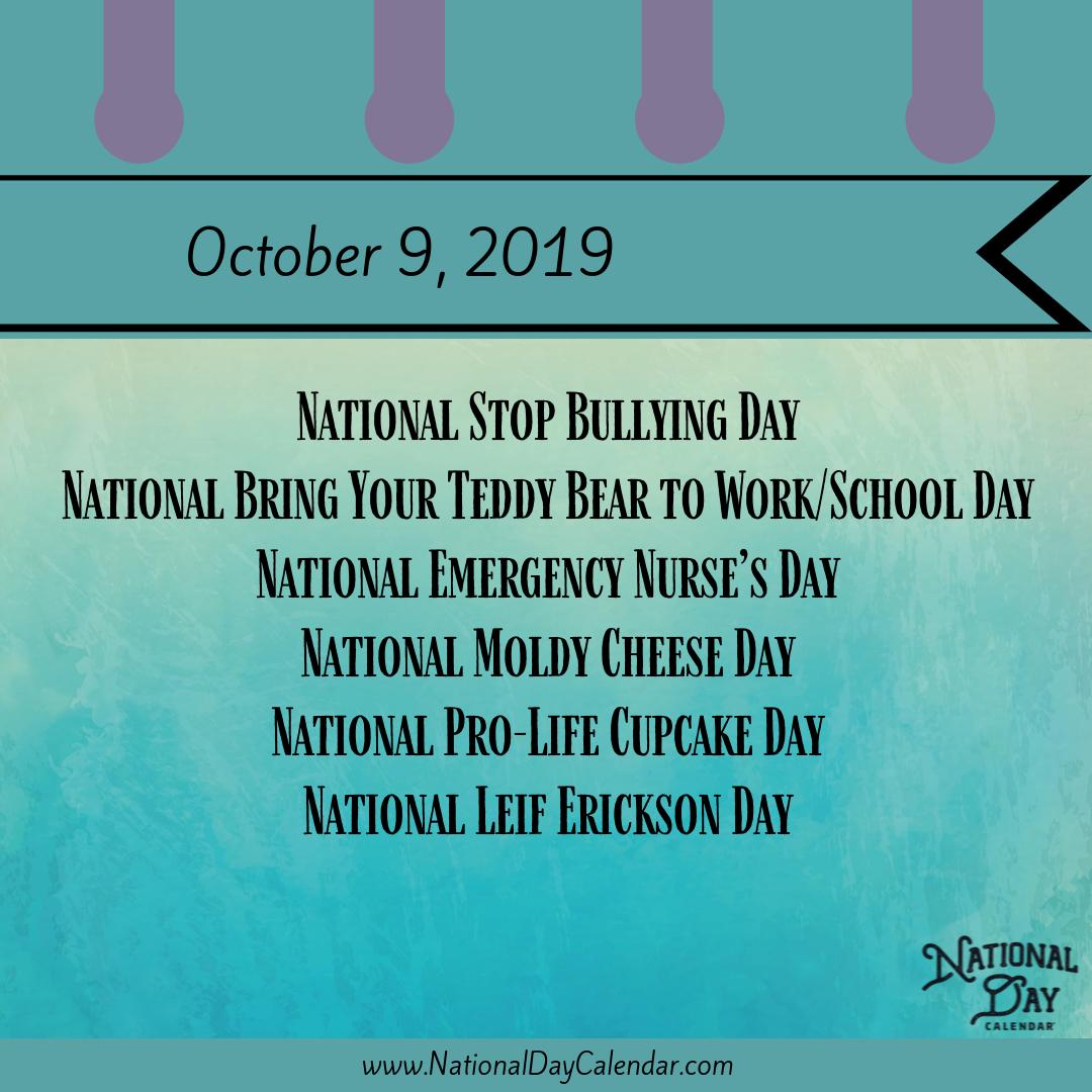 October 9 National Stop Bullying Day