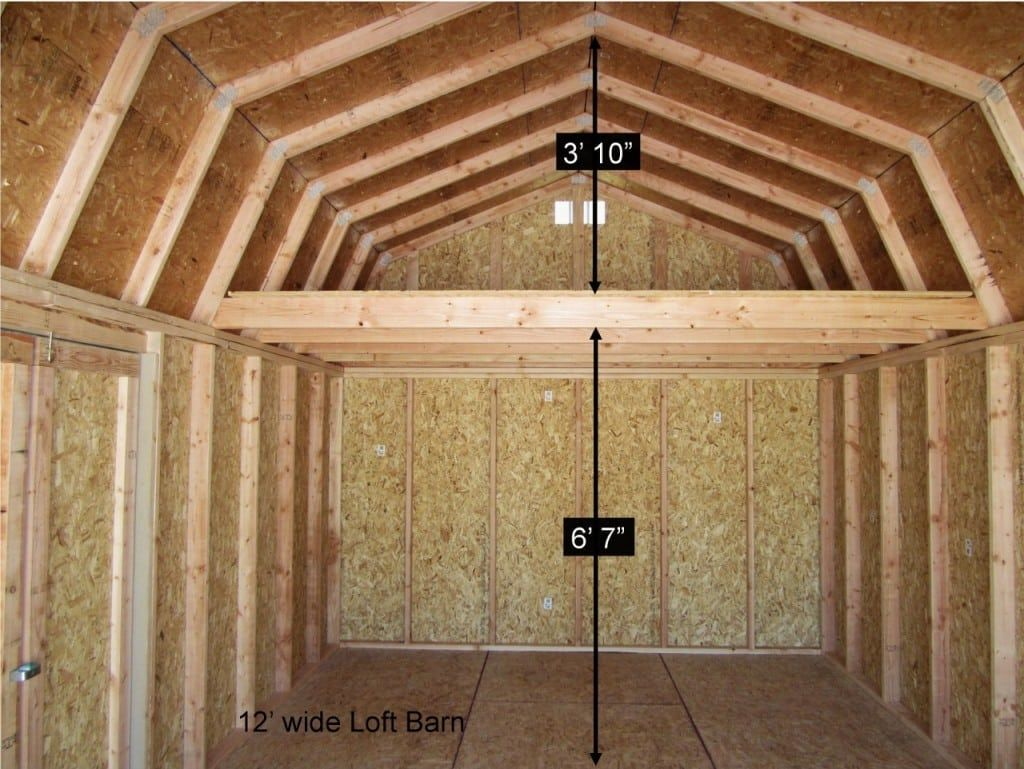 #PortableShedPlan | Shed with loft, Barn style shed, Tiny ...