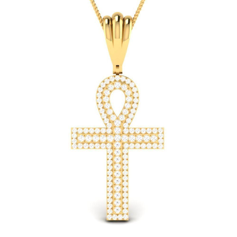 098 ct beautiful designed diamond religious cross pendant in 10k 0 98 ct beautiful designed diamond religious cross pendant in 10k yellow gold aloadofball Image collections