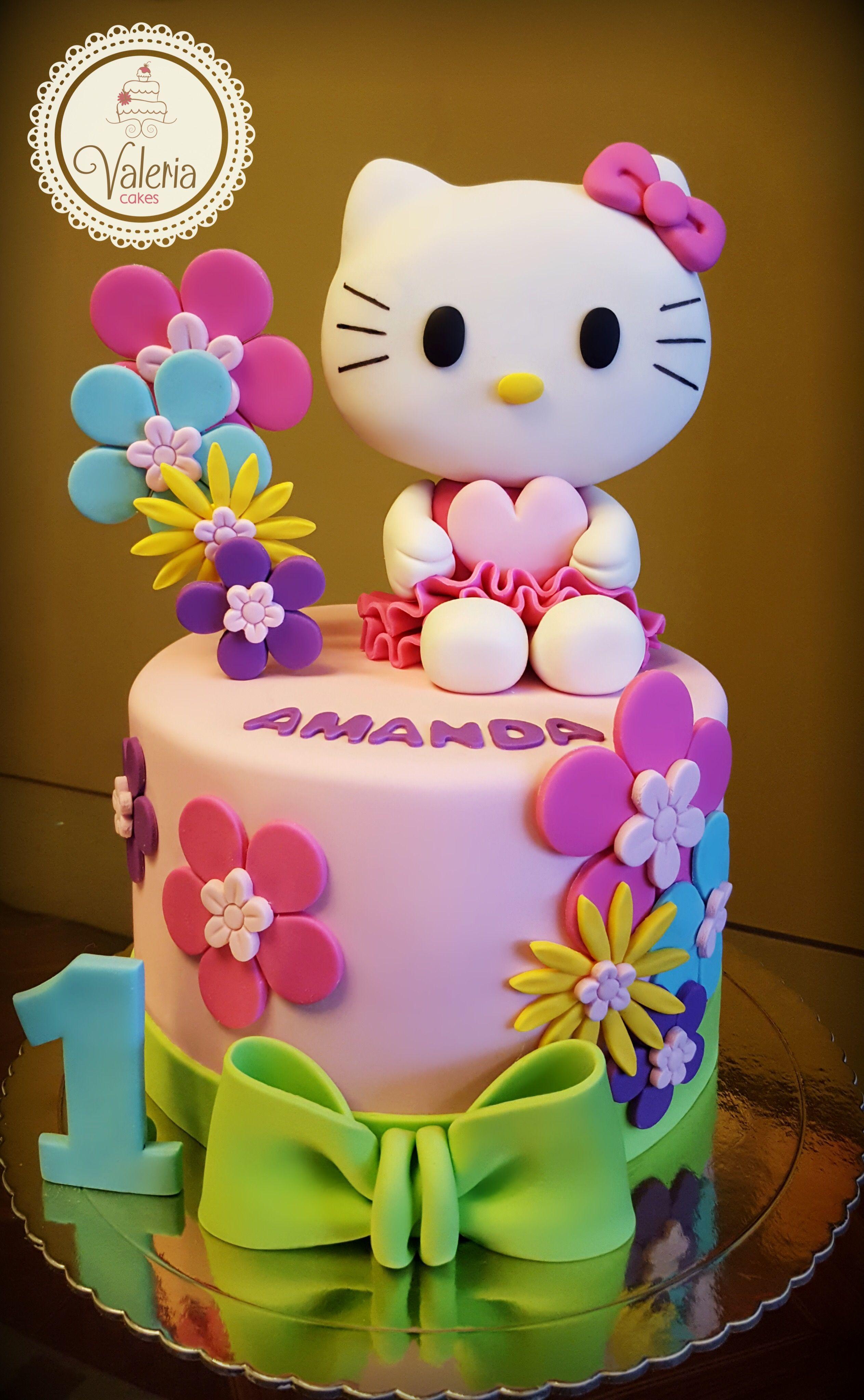 Flower Hello Kitty Fondant Cake ️🌹 Torta Hello Kitty Con