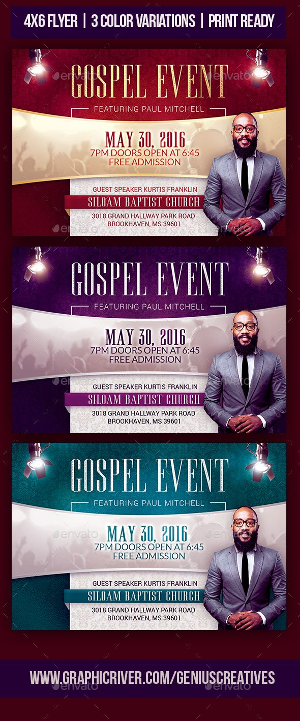 gospel event church flyer template great vivid design for a gospel event speaker event at