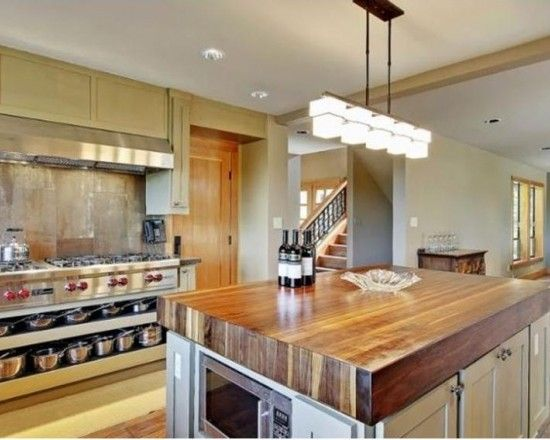 White Kitchen Island With Butcher Block Top butcher block counter top kitchen design, pictures, remodel, decor