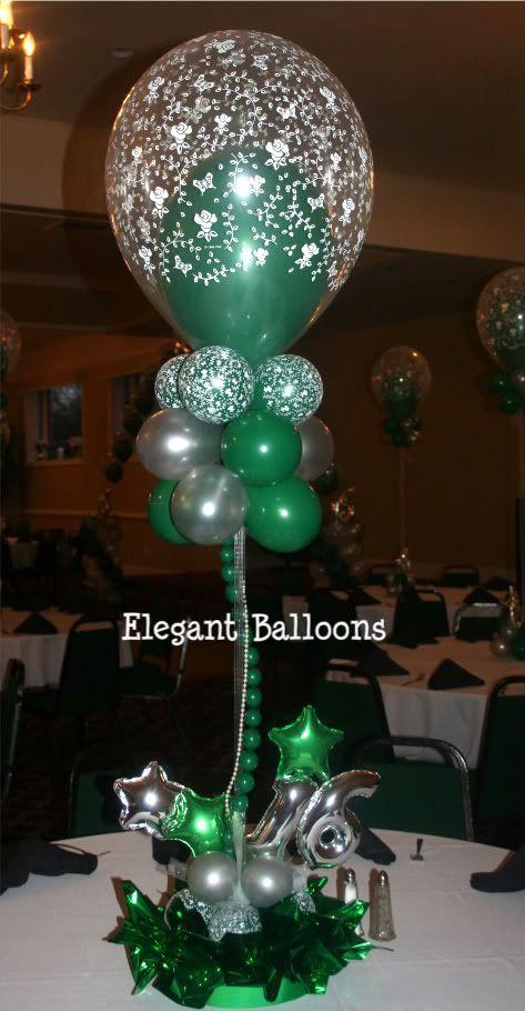 sweet 16 balloon centerpiece balloon centerpiece. Black Bedroom Furniture Sets. Home Design Ideas