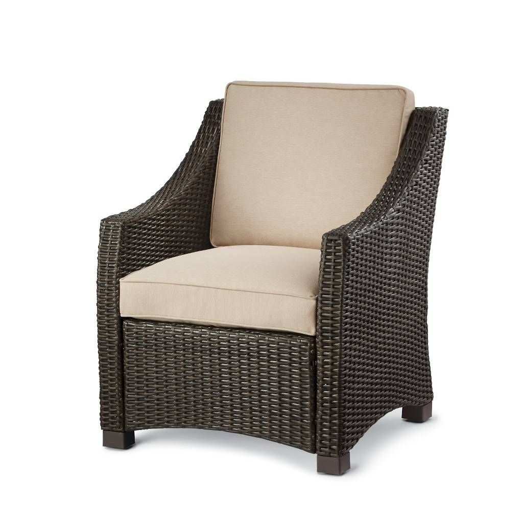 Belvedere Wicker Patio Club Chair Threshold Image 1 Of