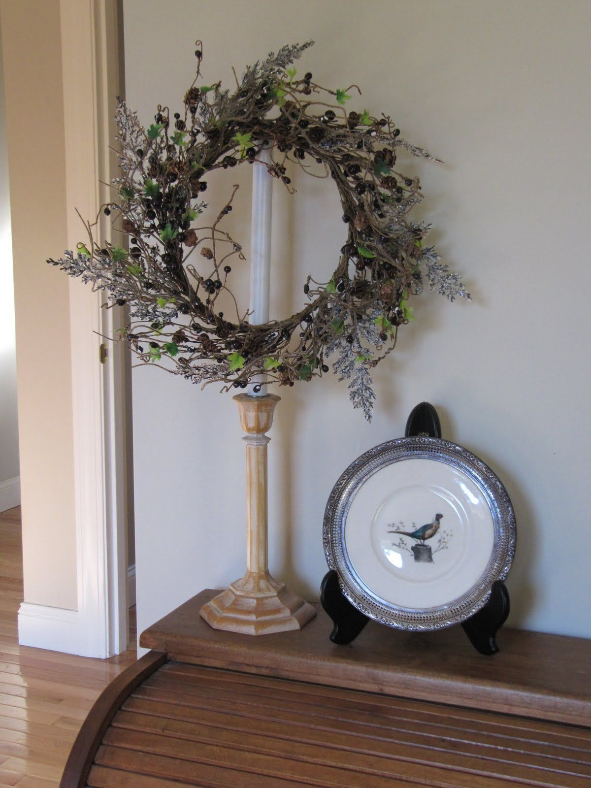 Candle Sticks And Lamps Candlesticks Wreath Stand Candle Wreaths