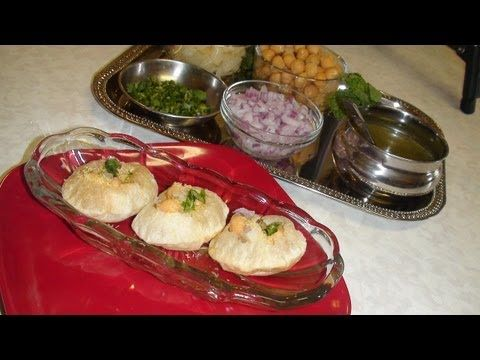 Pani Puri or Golgappa or Puchka Recipe Video - Chaat - Part 2 - YouTube with fillings