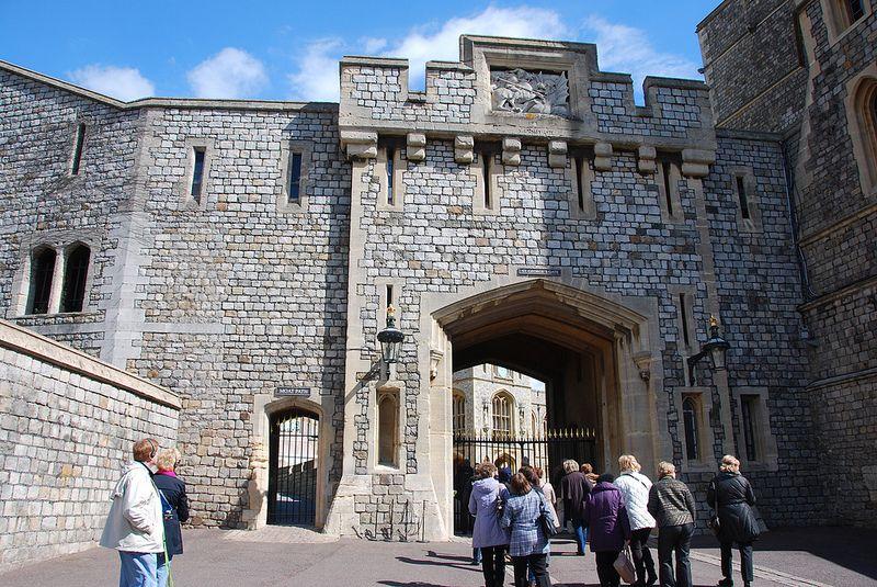 Windsor Castle - St George's Gate & Moat Path Entrance