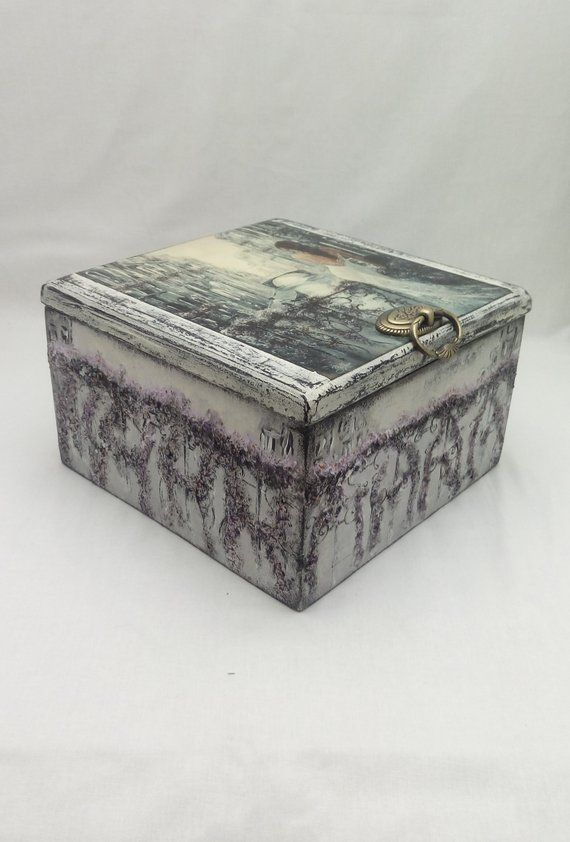 Decorative Gift Box With Lid Wooden Box Decoupage Art And Craft Box