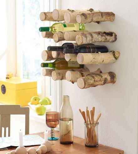 weinregal aus birkenholz basteln - wohnen & garten | wohnen, Innedesign