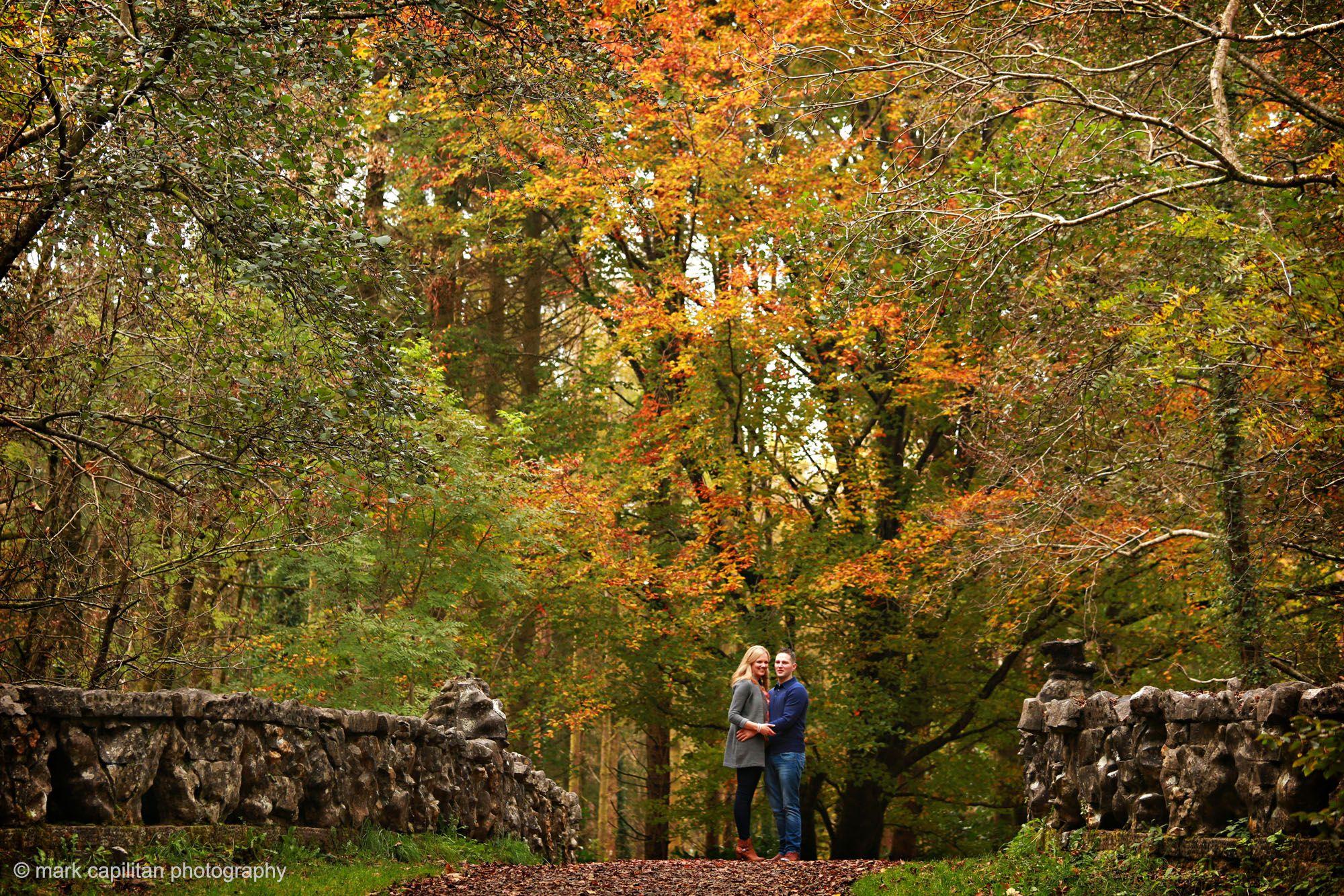 Autumn Engagement Shoot Fall Foliage Lough Key Ireland