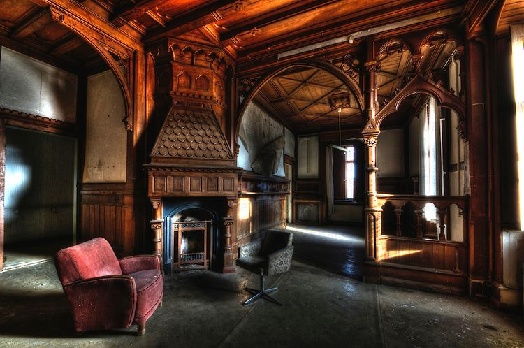 Stately Home Interiors. gothic mansion interior  East German stately home
