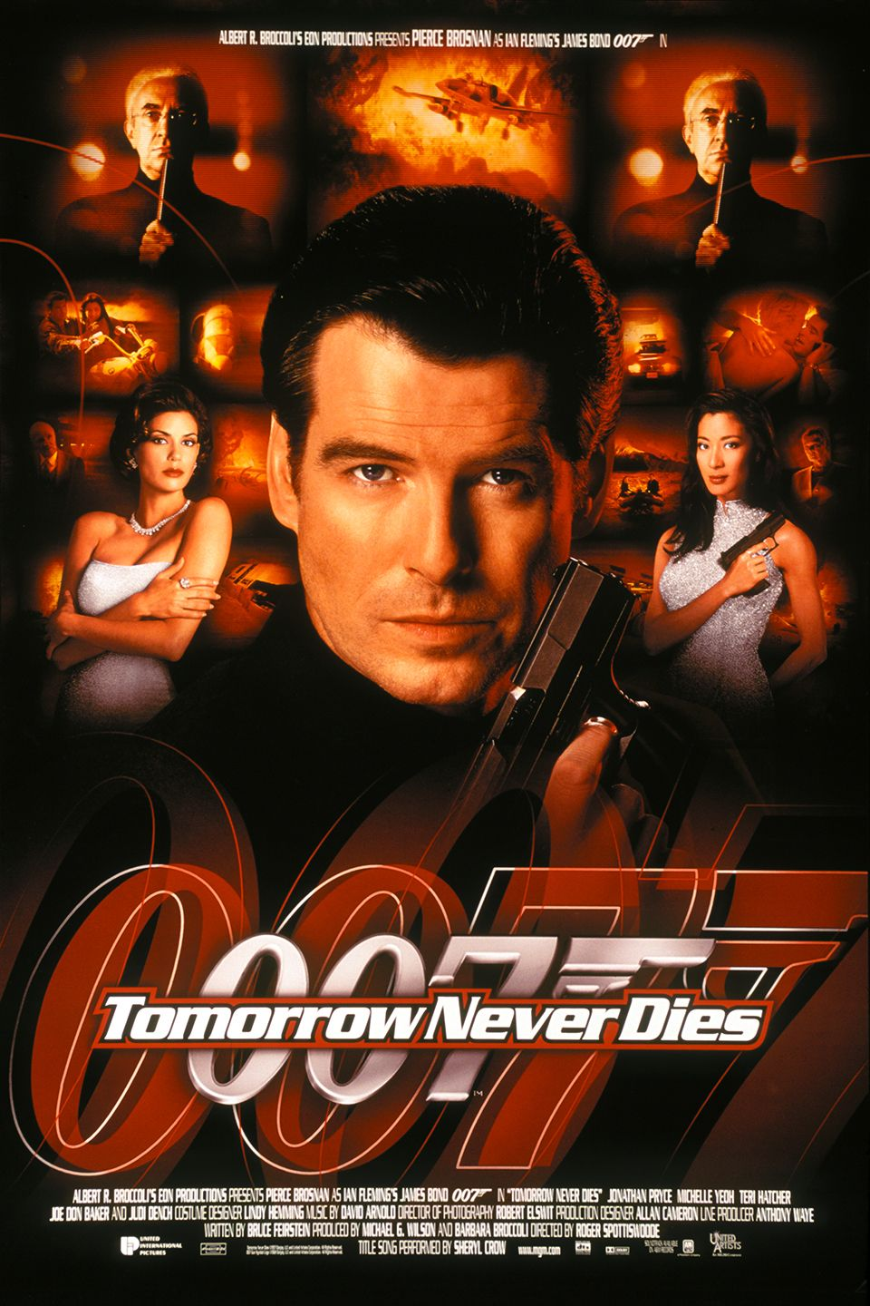 Tomorrow Never Dies With Images James Bond Movie Posters Bond