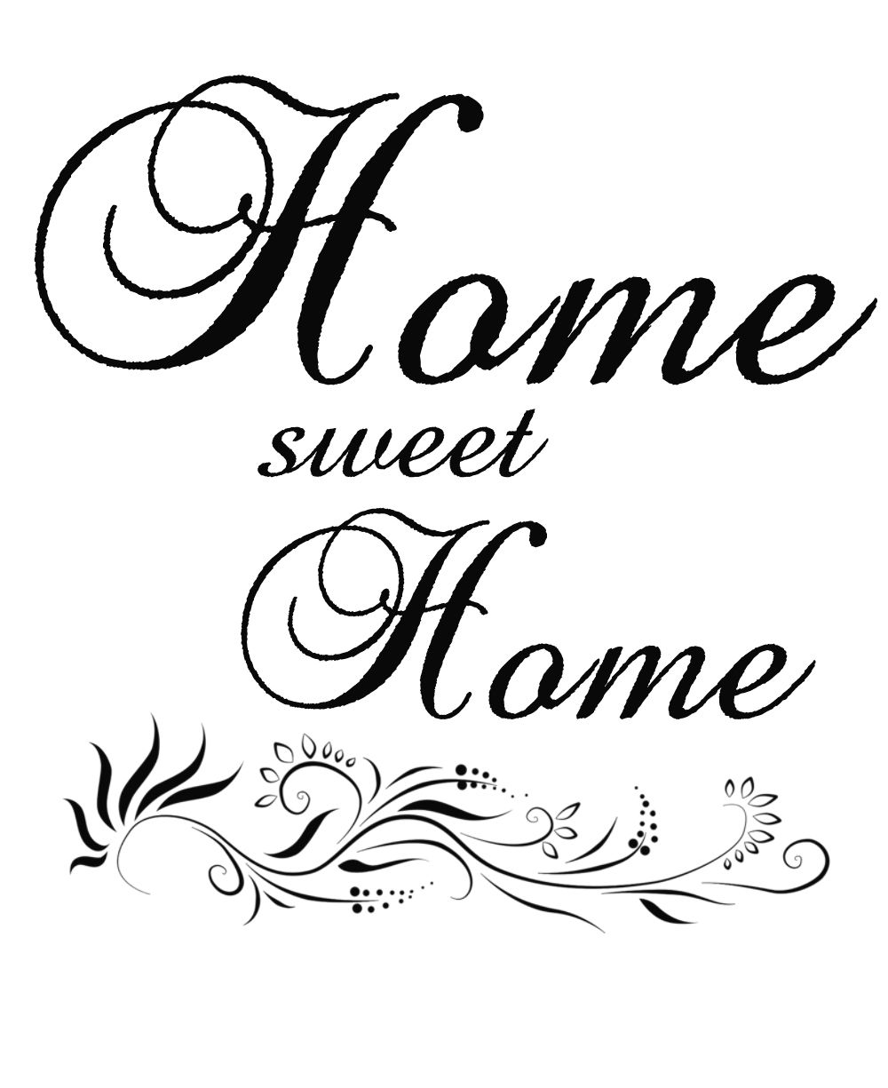 Großartig Wandtattoo Home Sweet Home Beste Wahl Graphics With Nice Flourish Underneath