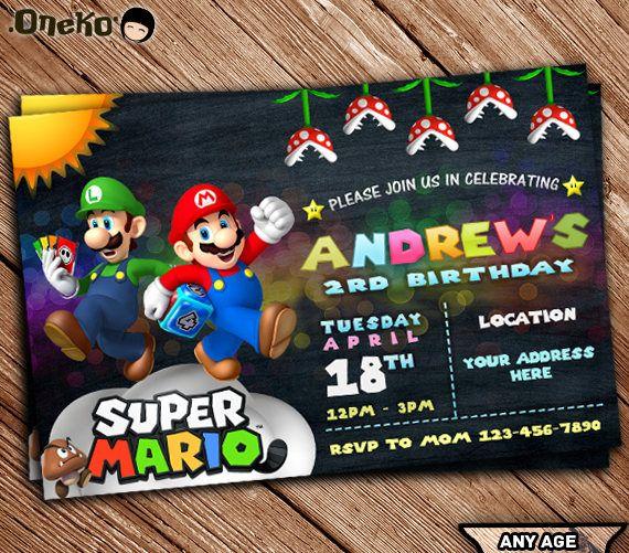 Sale super mario and luigi birthday invitation printable etsy sale super mario and luigi birthday invitation printable filmwisefo