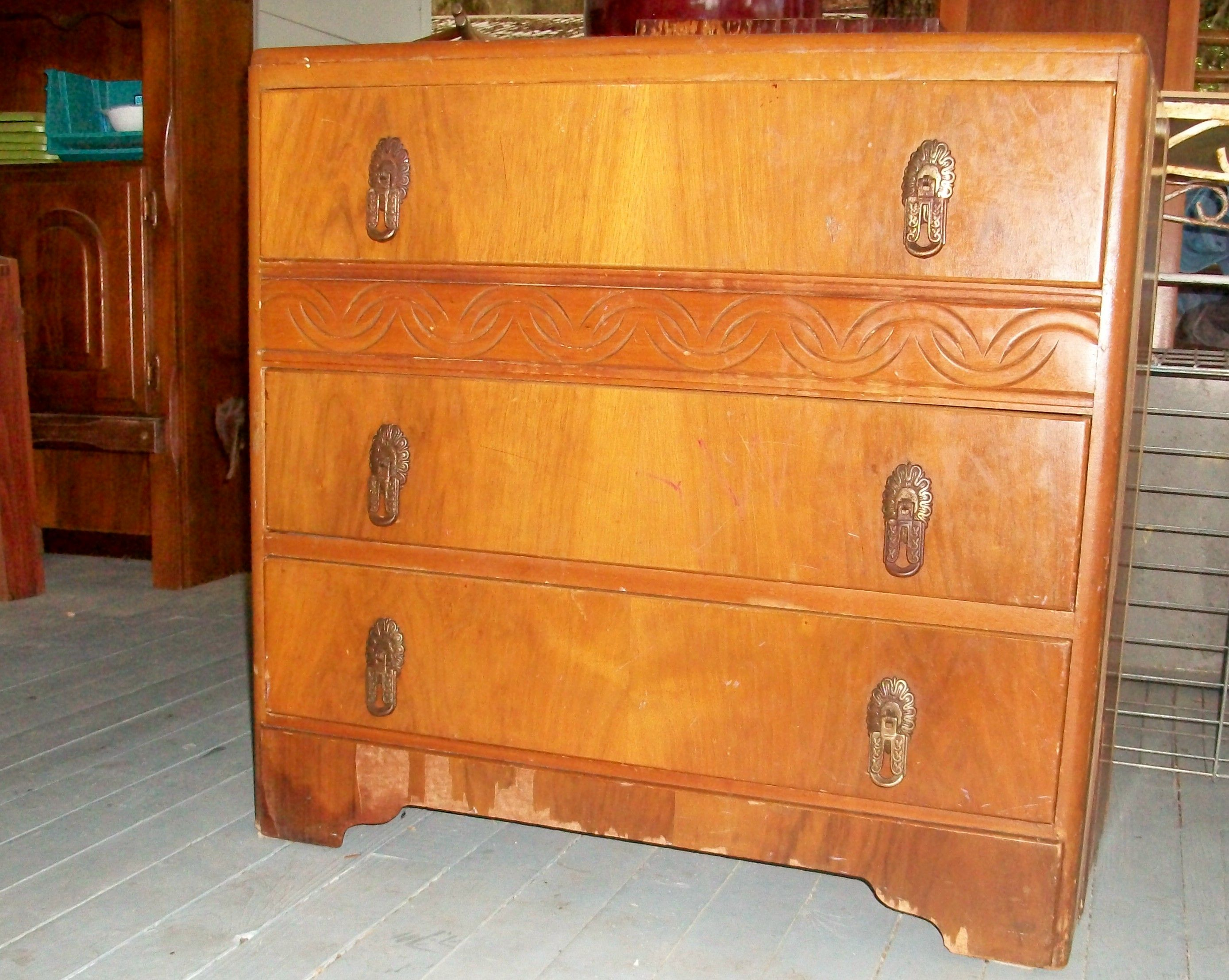 Lovely small dresser with a multitude of issues lots of missing