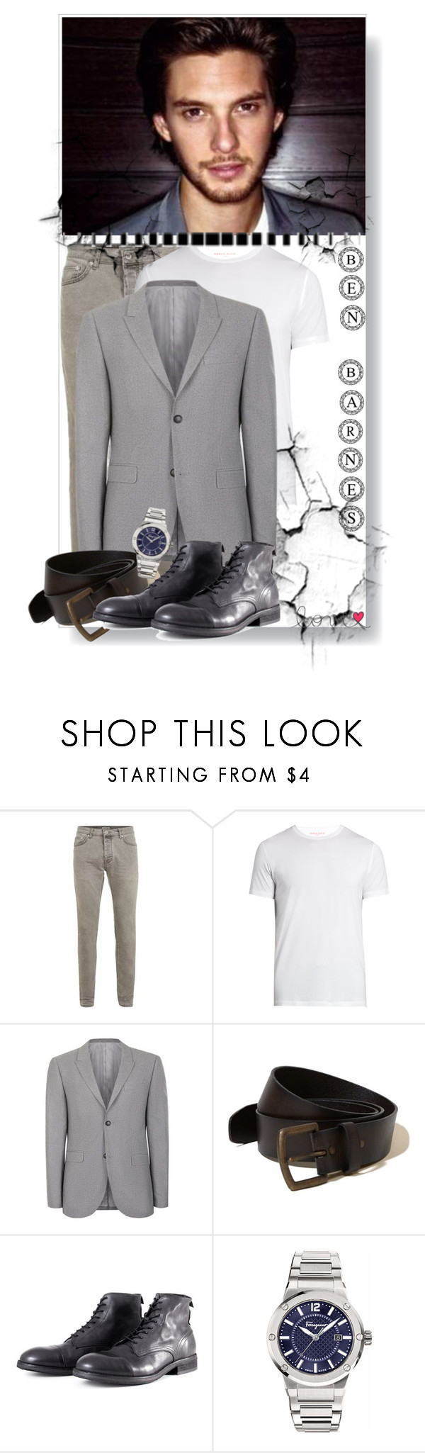 """Ben Barnes"" by monika-85 on Polyvore featuring Derek Rose, Hollister Co., Salvatore Ferragamo, men's fashion i menswear"