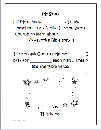 Bible Stories for Kids Book Giveaway & FREE My Story Printable | The ...