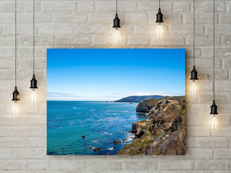 Nature Landscape Coast Water Shore Ocean Sea Rock Rocky Blue Sky Beach Coastline Printable Wall Art Wall Art Affordable Wall Art