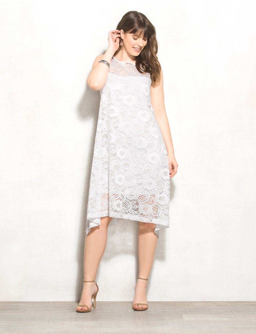 Slip Into Something Light And Breezy Like This Lace Trapeze Dress Perfect For Everything From Dinner To Parties To Casual We Dresses Trapeze Dress Plus Size [ 1370 x 1050 Pixel ]