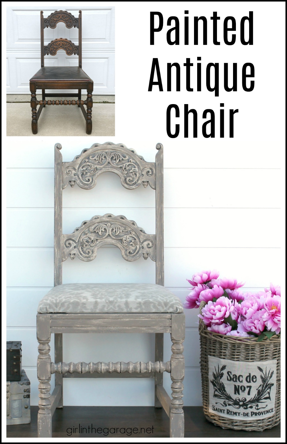 Antique Painted Chair Makeover In 2020