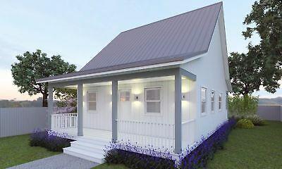 59 M2 Cottage Style House Plan For Sale Granny Flat Design 2 Bed Deck Kit Backyard Cottage Cottage Style House Plans Cottage House Plans