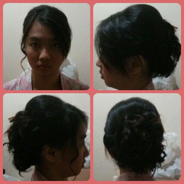 Model Sanggul Dari Rambut Pendek Se Pangkal Bahu By Poly Hair Code