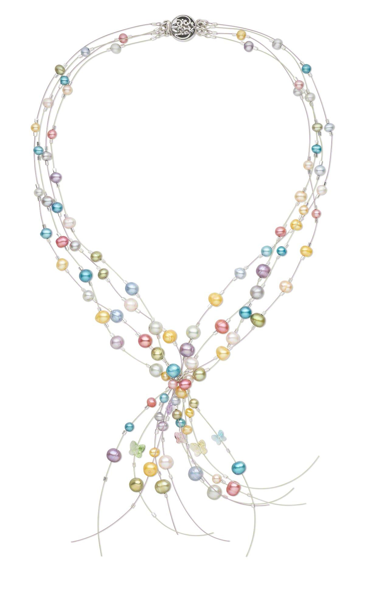 Jewelry Design - Multi-Strand Necklace with Cultured Freshwater ...