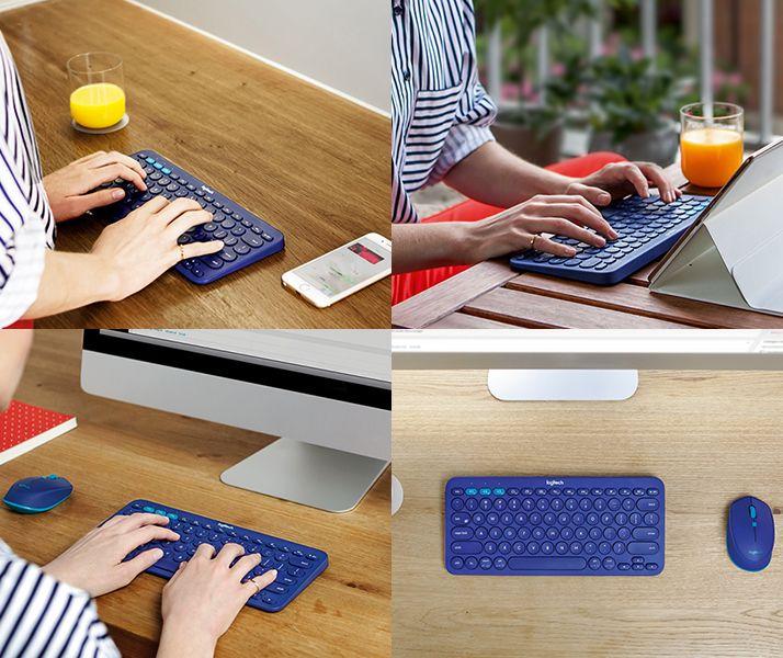 2475c8a4849 Logitech Multi-Device Bluetooth Keyboard K380 and Bluetooth Mouse M337…