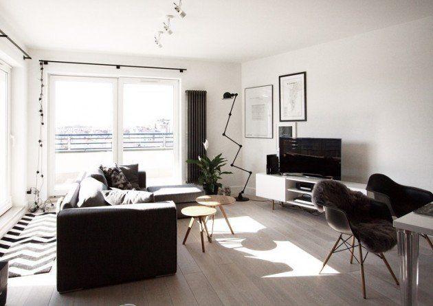 10 Great Small Studio Apartment Interior Design Featured On Houzr Apartment Interior Design Scandinavian Design Living Room Living Room Scandinavian