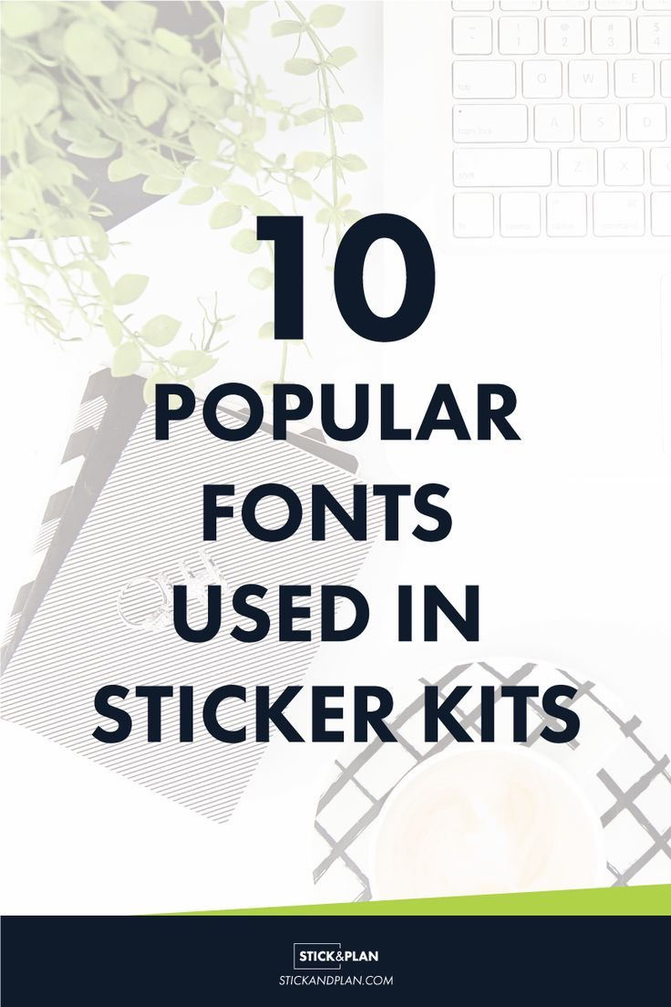 10 Popular Fonts For Sticker Making Fonts Stickers How