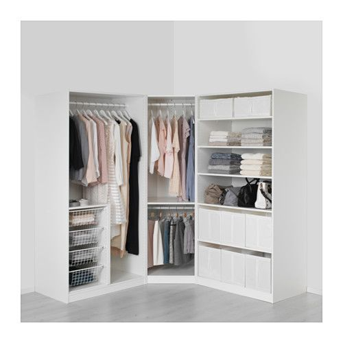 pax armoire penderie blanc tyssedal blanc charni res standard 196 196x60x201 cm chambre. Black Bedroom Furniture Sets. Home Design Ideas