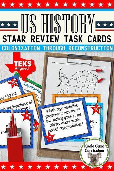 U.S. History / Social Studies STAAR Task Card Review ...