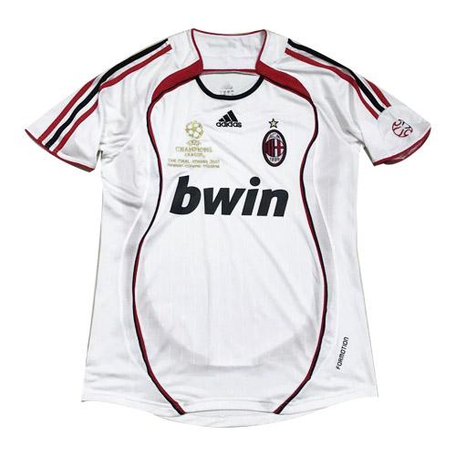 06-07 AC Milan Away White Retro Soccer Jerseys Shirt | Ac milan ...