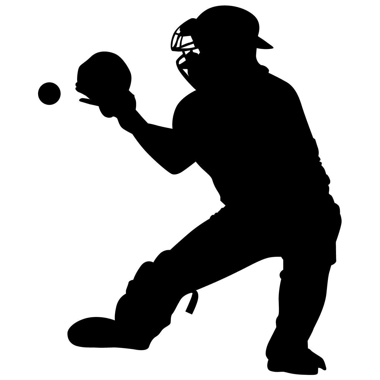 softball catcher clip art - 728×841