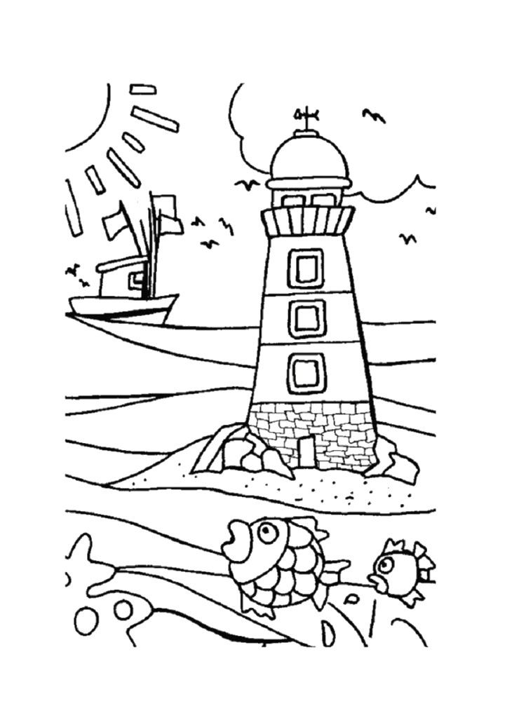 Coloriage mer my blog - Coloriage paysage mer ...