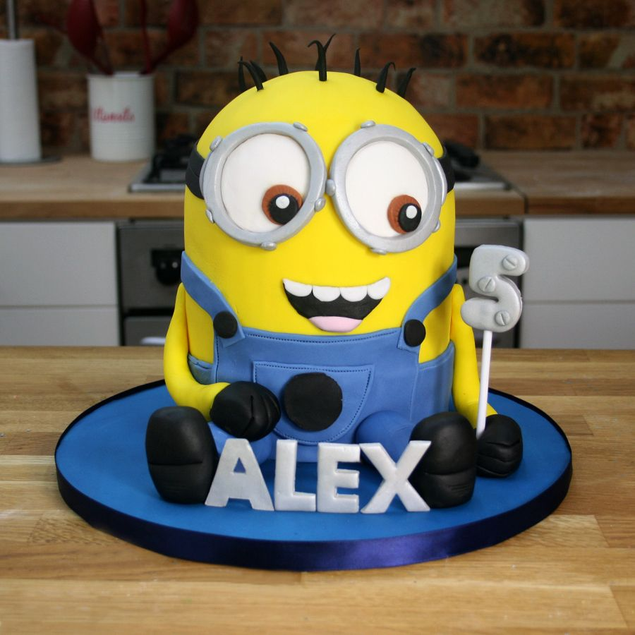 3D Minion Cake Tutorial Despicable Me Cakes Cake Inspiration