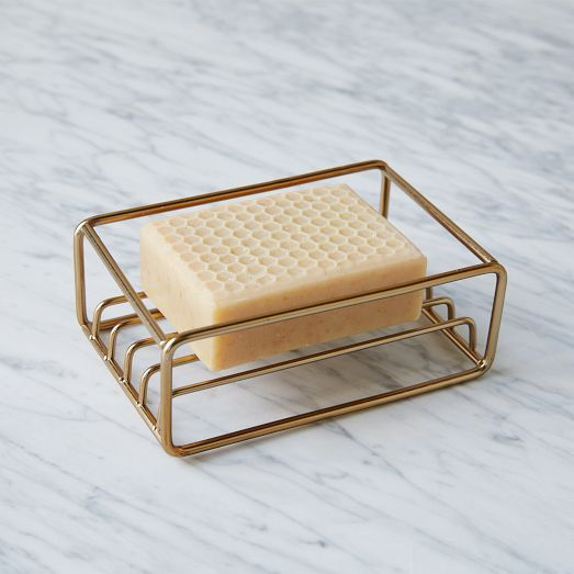 Wire Kitchen Collection   West Elm Ooh i like this. Pretty and it won't waste soap or get mildewy or yucky because it drains. :)