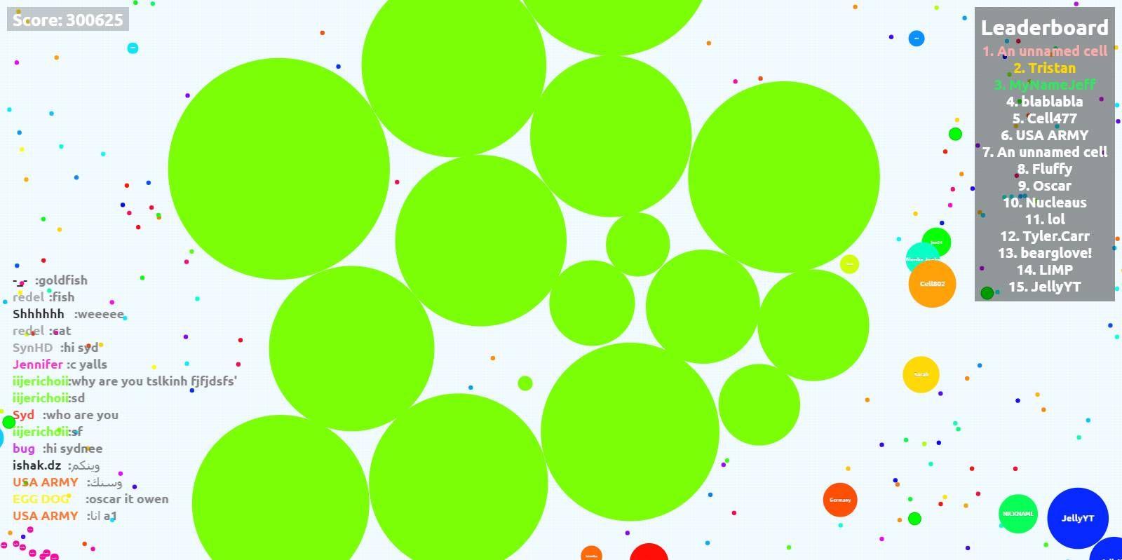 300 K Agario Game Score Agario Scores Pvp Pie Chart