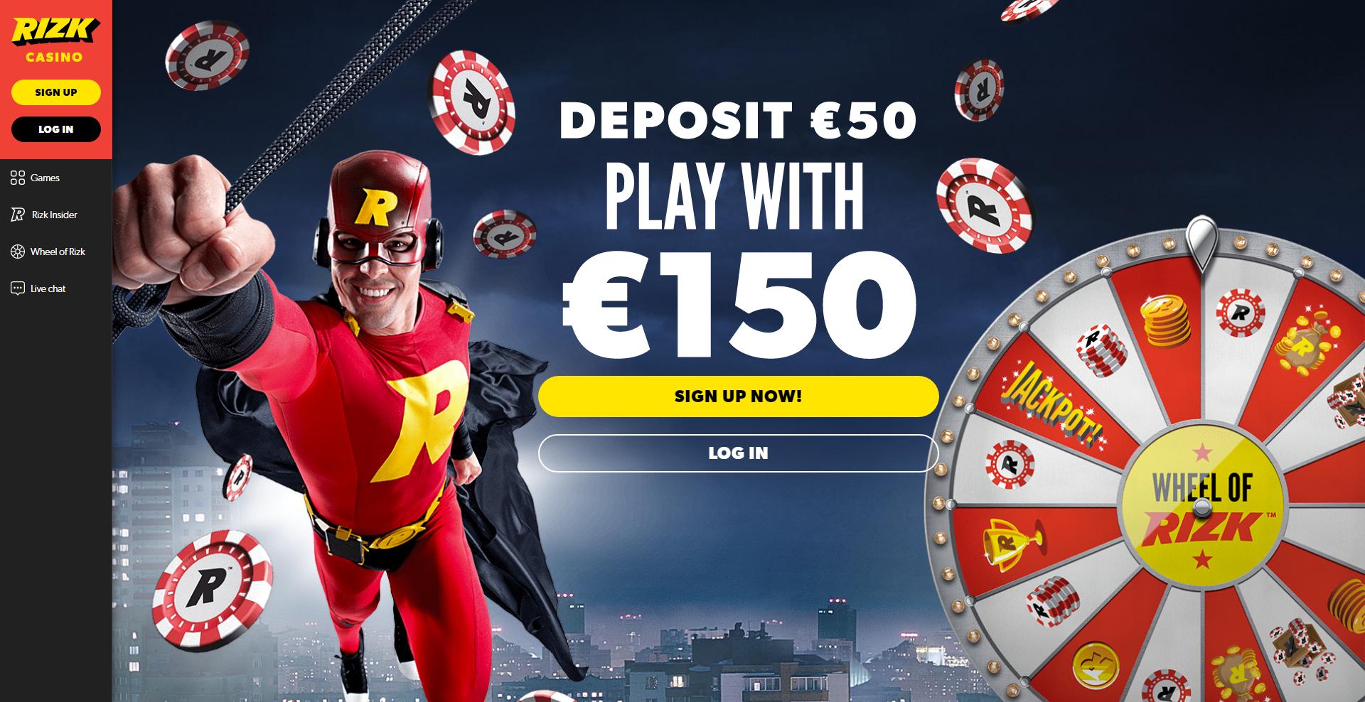 Rizk Casino, 200 deposit bonus!! Super fast payouts of