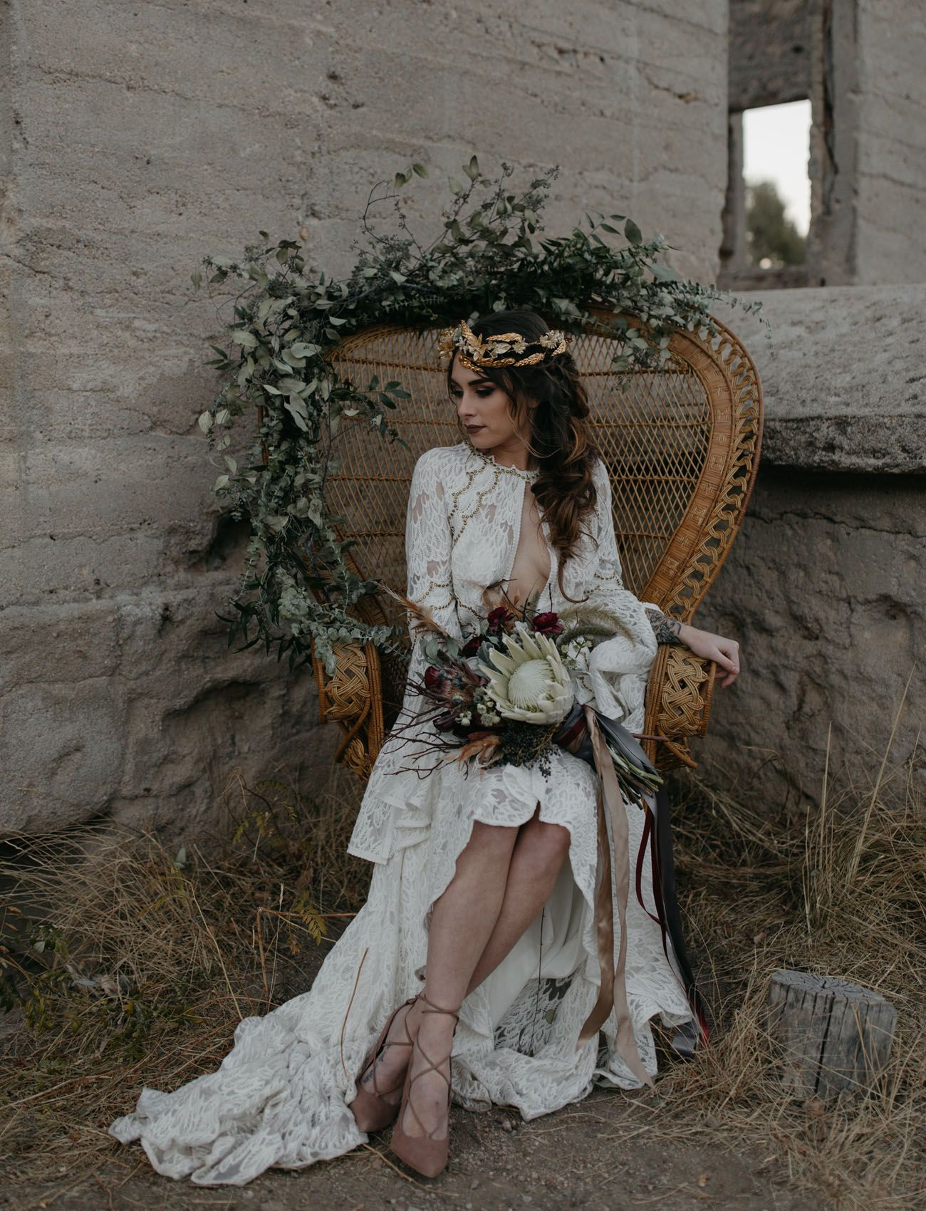A moody elopement among the castlewood ruins wedding accessories