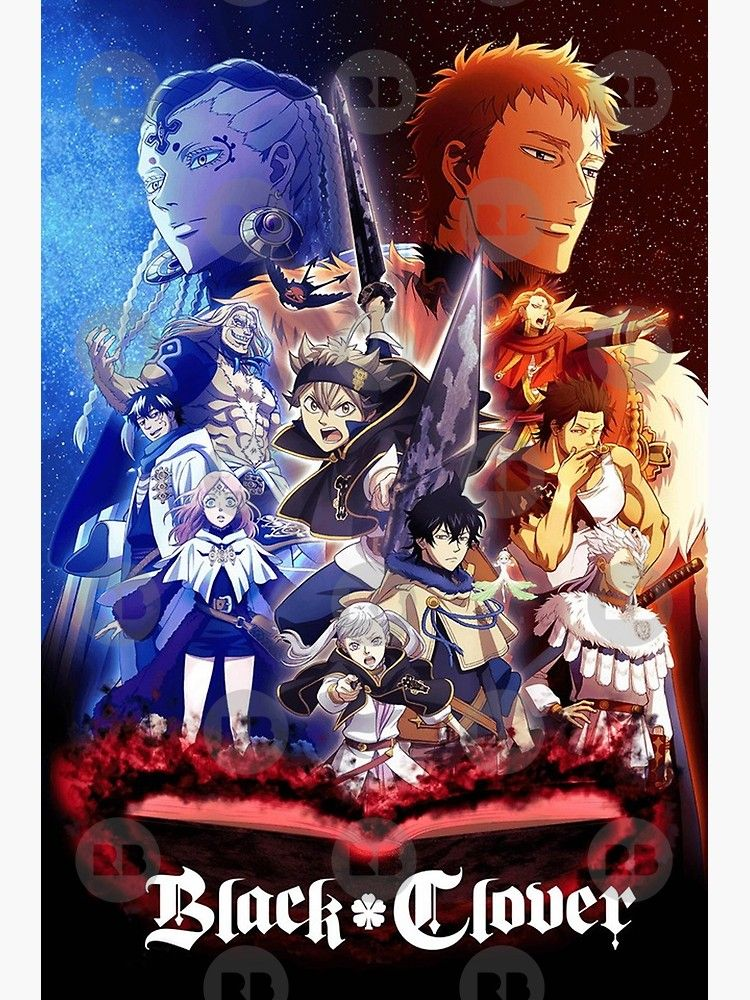 'Black Clover Poster' Poster by AnimeGroup (con imágenes