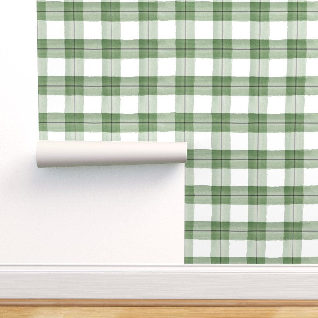 Green Plaid Wallpaper Plaid Green And Black By Daily Etsy In 2020 Plaid Wallpaper Self Adhesive Wallpaper Adhesive Wallpaper