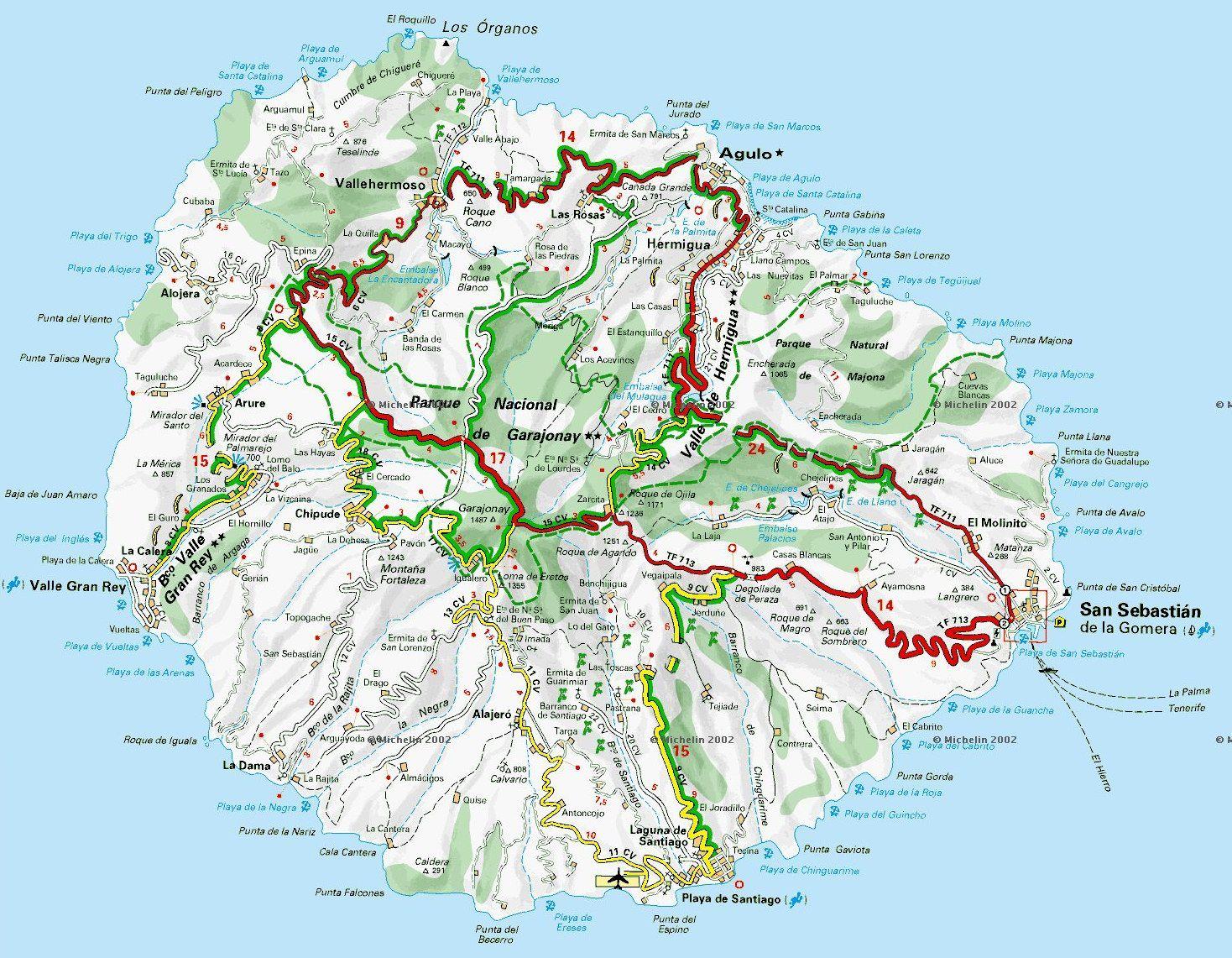 La Gomera Map La Gomera Isla De La Gomera Islas