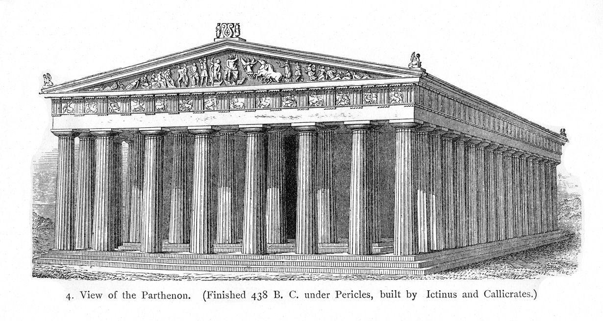 Athenian Parthenon Parthenon Ancient Greek Theatre Greek Temple