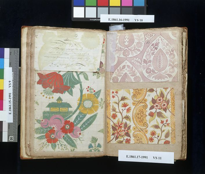 Designs for silk cloth, English/Huguenot silk weavers circa 1710 by Leman, James V Search the Collections