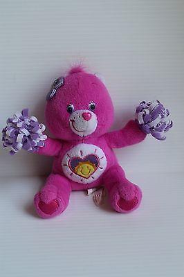 2006 SHINE BRIGHT BEAR Care Bear Stuffed Plush Pink Collectible Bear sun heart