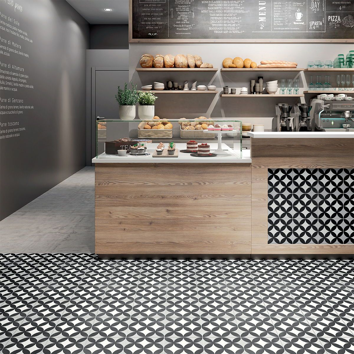 Cancos tile & stone Cement Collection porcelain tiles can be used for both floor and wall