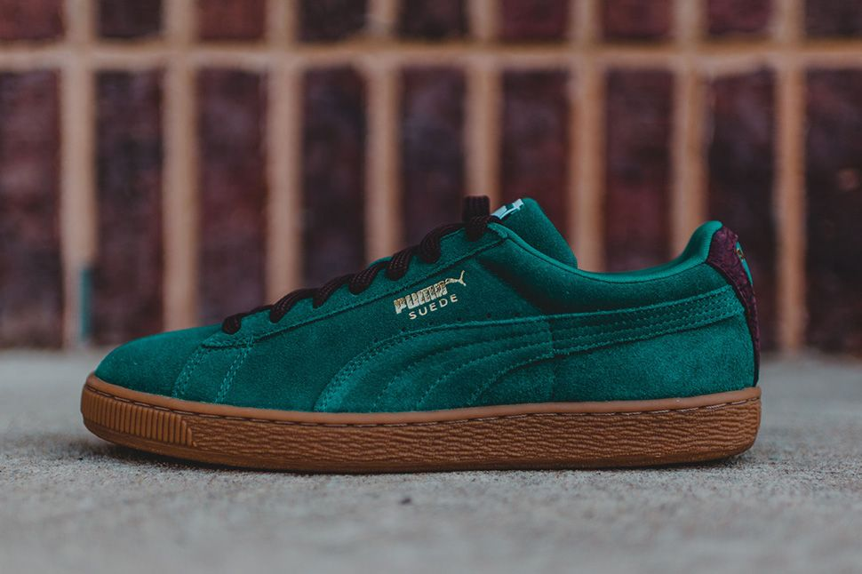 "Fashion · Puma Suede Classic Casual ""Storm Green, Oxblood & Gum"" ..."